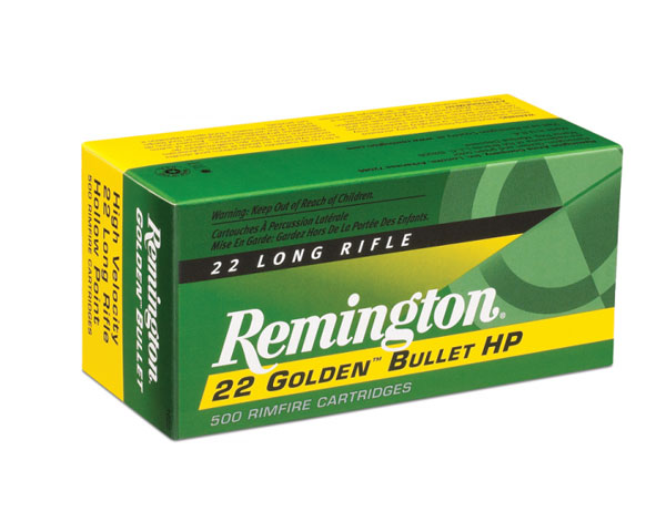 Remington .22 LR Golden Bullet .36 Grain PHP 1500 (5000 Round Case)