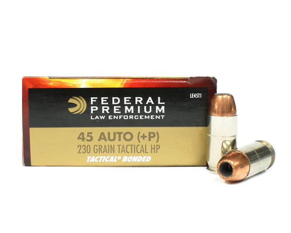 Federal LE Tactical .45 Auto 230 Grain +P LE45T1 (1000 Round Case)
