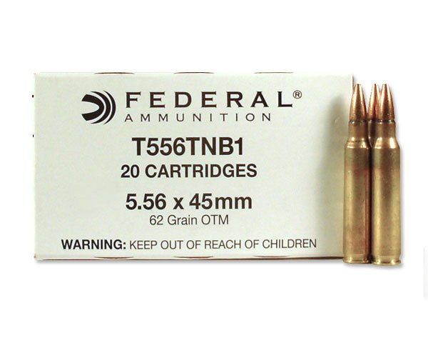 Federal 5.56 62 Gr MK318 MOD-0 SOST T556TNB1 (500 Rnd Case) NSN: 1305-01-573-2229 - Click Image to Close