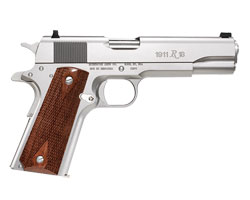 "Remington R1 5"" Full Size Satin Stainless Steel - Walnut Grips"