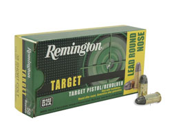 Remington Target .38 125 Grain Short Colt (RTG38SC) (500 Round Case)
