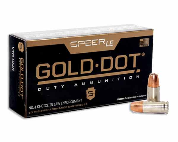 Speer LE Gold Dot 115 Grain GDHP 53614 (1000 Round Case)