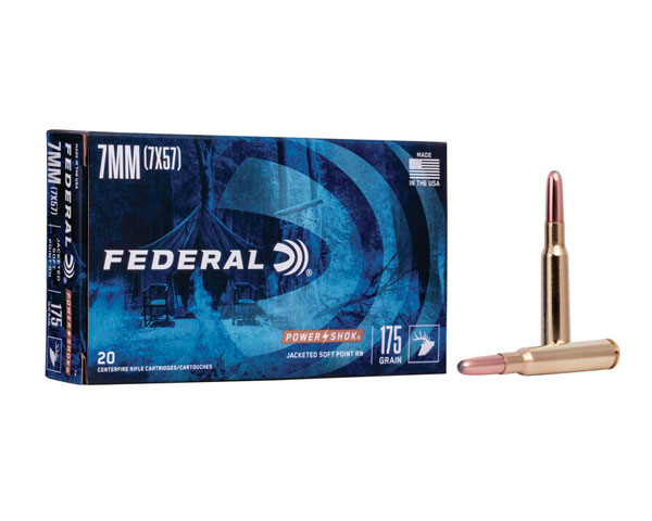 Federal Power Shok Rifle 175 Gr 7mm Mauser JSP 7A (200 Round Case)