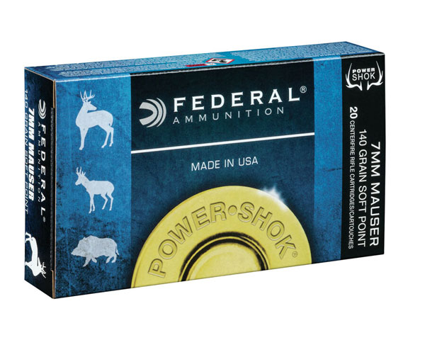 Federal Power Shok Rifle 140 Gr 7mm Mauser JSP 7B (200 Round Case)