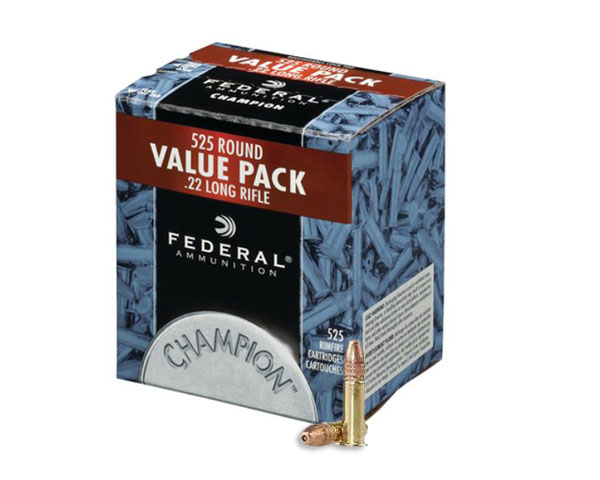 Federal .22 Champion 36 Grain Copper Plated HP 745 (5250 Round Case)