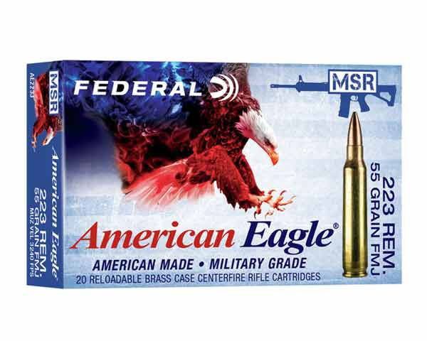 Federal AE 223 55 Grain FMJ Boat Tail AE223J (500 Round Case)