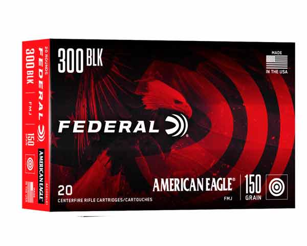 Federal 300 Blackout 150 Grain JBT AE300BLK1 (500 round case)
