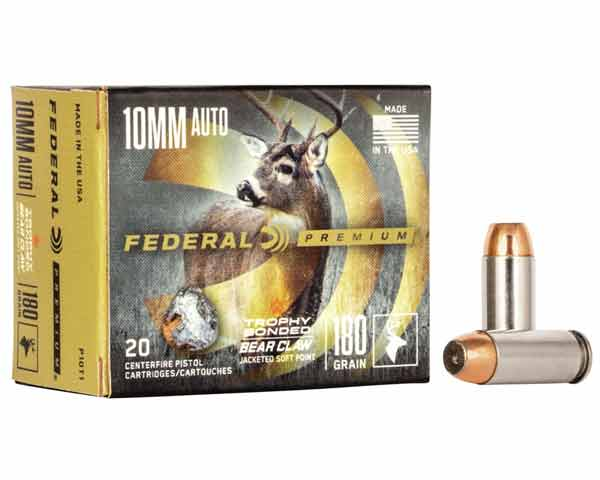 Federal Trophy Bonded 10mm Auto 180 Grain JSP P10T1 (200 round case)