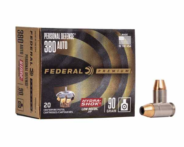 Federal Personal Defense 380 Hydra-Shok Low Recoil PD380HS1H (200 Round Case)