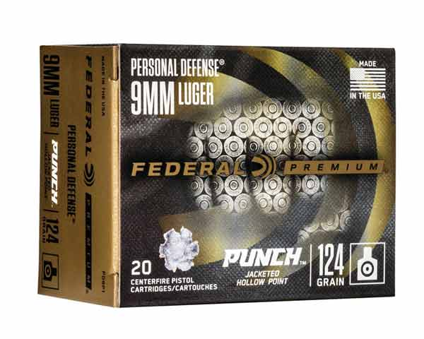 Federal Punch 9mm Luger 124 Grain JHP PD9P1 (200 Round Case)