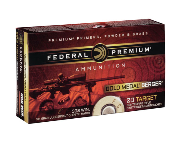 Federal .308 Gold Medal Match 185 Gr. Berger GM308BH185 (200 Round Case)
