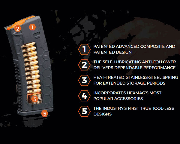 Hex Mag 30 Round 5.56 Magazine - Black