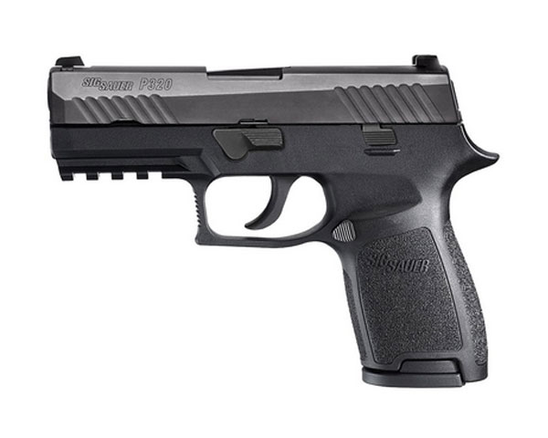 SIG 320 9MM Striker Compact - Black 15 Round W Night Sights