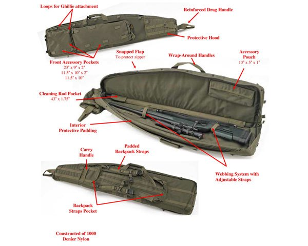 "US Peacekeeper 52"" Drag Bag OD Green"