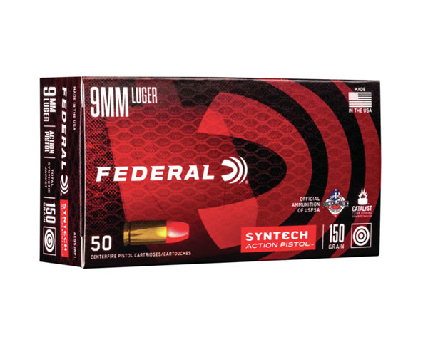 Federal Syntech 9mm 150 Grain Syntech JFN AE9SJAP1 (500 round case)