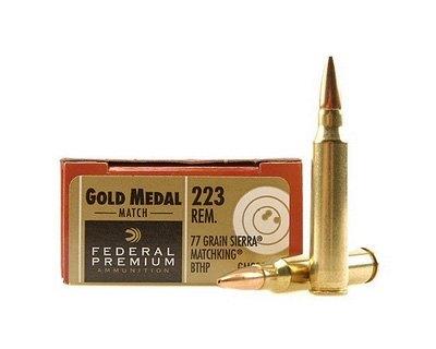 Federal Premium Gold Medal Match 77 grain  223 200 round