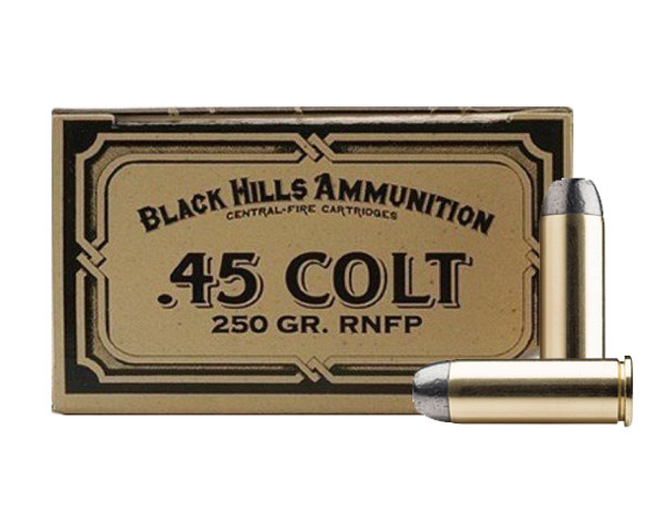 Black Hills .45 Long Colt Cowboy Action 250 Gr RNFP (50 Round Box) - Click Image to Close