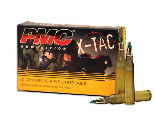PMC 5.56K 62 Gr X-TAC Green Tip Penetrator 556K (1,000 Round Case) - Click Image to Close