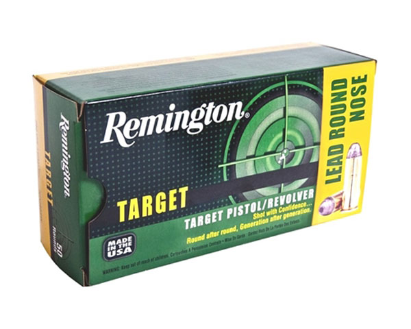 Remington Target 38 Special 158 Grain Lead Round Nose (500 Round Case) - Click Image to Close
