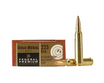Federal GM223M  223 69Gr Sierra Match (500 Round Case