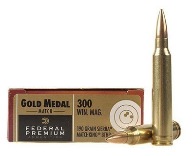 Federal 300 Win Mag 190 Gr Gold Medal Match GM300WM (200 Round Case) - Click Image to Close