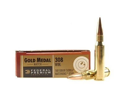 Federal .308 Gold Medal Match 168 Gr. BTHP GM308M500 (500 Round Case) - Click Image to Close
