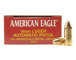 Federal 124 Grain 9MM FMJ AE9AP (1,000 round case)