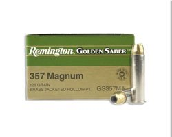 Remington Golden Saber 357 Magnum 125 Gr HPJ GS357MAB (500 round case)