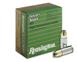 Remington .45 ACP 230 Gr Golden Saber HPJ GS45APB (500 round case)