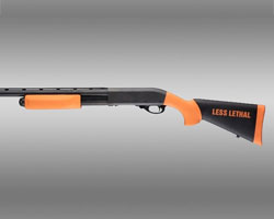 Hogue Remington 870 12 Gauge Less Lethal Orange OverMolded Shotgun Stock w/forend
