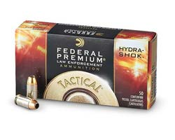 Federal LE 45 ACP 230 Gr Hydra-Shok Jacketed Hollow Point (1000 Round Case)