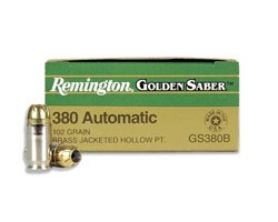 Remington Golden Saber 102 Gr .380 HPJ (500 round case)