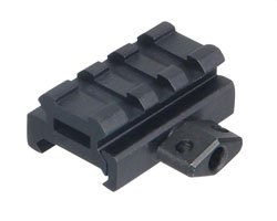 "UTG 0.5"" High 3-Slot Low-Profile Super Compact Riser Mount"