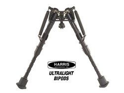 "Harris Lightweight Bipod Bench Rest 6"" to 9"" Swivel Notched Legs"